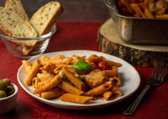 Nudelauflauf Tomate Mozzarella