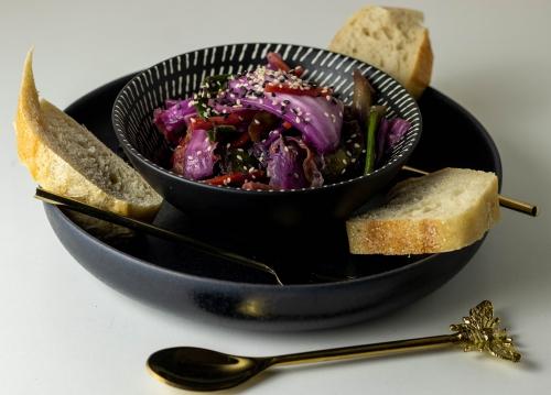 Kimchi, eingelegt mit Milchsäuregärung