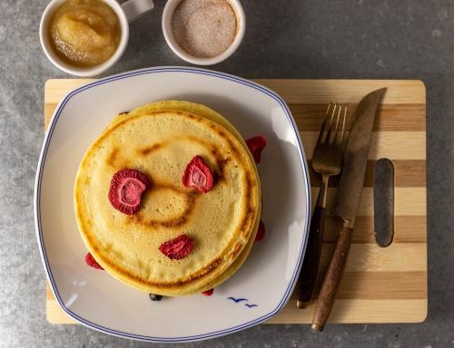 Mungobohnen Pfannkuchen, proteinreich und glutenfrei