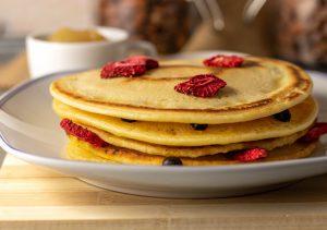 Mungobohnen Pfannkuchen, süße Variante