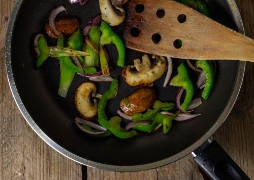 Anbraten des Gemüses