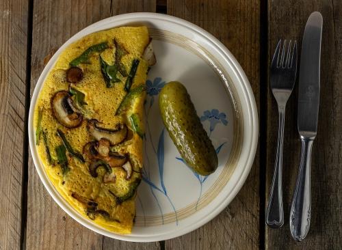 Veganes Omelette aus Mungobohnen