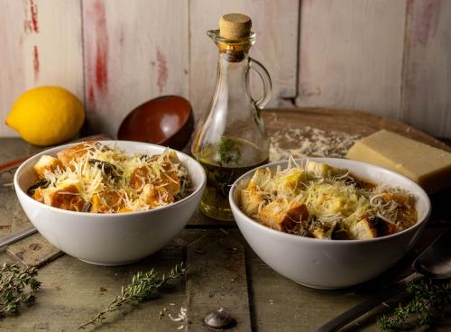 Ribollita - italienische Bohnensuppe