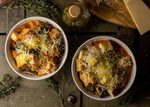 Ribollita - Bohnensuppe mit Schwarzkohl