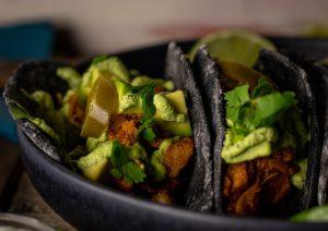 In schwarzen Soft Taco Tortillas