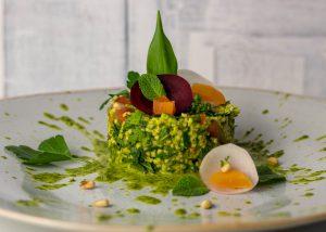 Grüner Goldhirsesalat mit Bärlauch-Zitronen-Dressing
