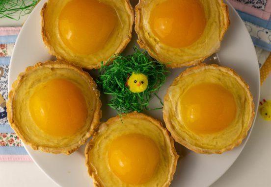 Ostertartelettes - kleine Aprikosen Käseküchlein