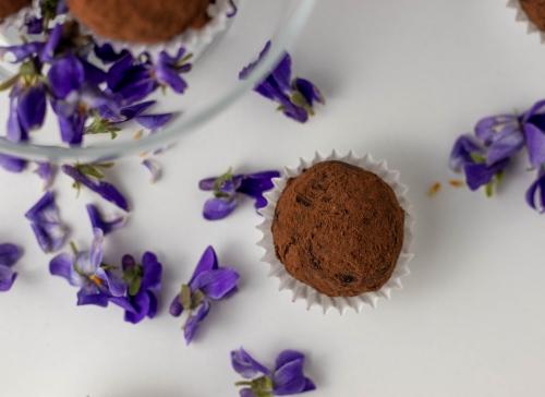 Wilde Duftveilchen gepaart mit Schokolade