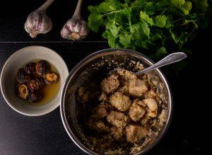 Zubereitung der Jackfruit für die Füllung der Baozi