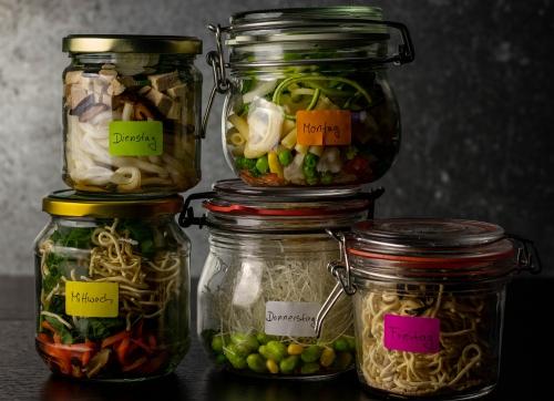 Mittagessen für die ganze Woche: ganz leicht vorbereitet!