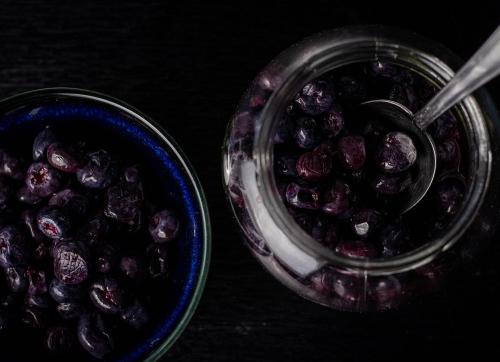 Fermentierte Heidelbeeren, weitestgehend unbekannt