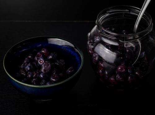 Milchsauer fermentierte Blaubeeren