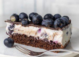 Veganer Blueberry New York Cheesecake