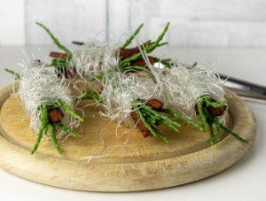 Die rohen Nester vor dem Frittieren