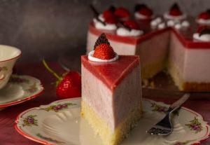 Köstliche Erdbeersahnetorte