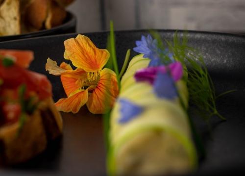 Pfeffrig schmeckende Kapuzinerkressenblüte