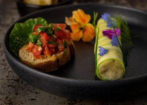 Eine schmackhafte Vorspeise für die gehobene vegane Küche