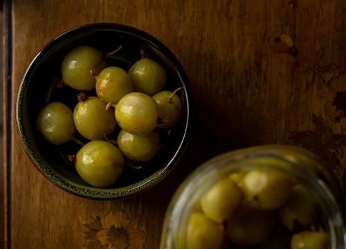 Laktofermentierte Stachelbeeren