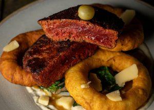 Saftiges Steak, rein pflanzlich