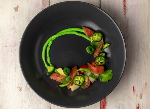 Perfekt als Fischgang in einem veganen Mehrgangmenü