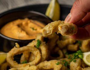 Köstliche vegane Calamari