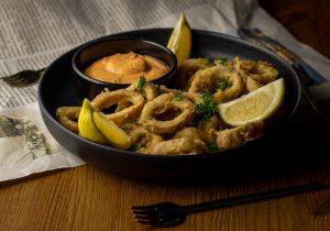 Kulinarische Nostalgiereise mit veganen Calamari