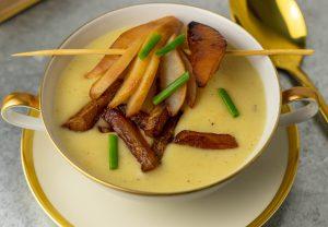 Geröstete Ringelbeete als Suppeneinlage