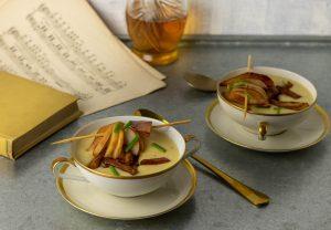 Gewürzte Ringelbeete aus dem Ofen als Suppeneinlage