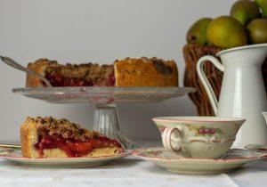 Obststreuselkuchen, vegan gebacken