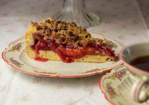 Schöne alte Kindheitserinnerungen an Obstkuchen