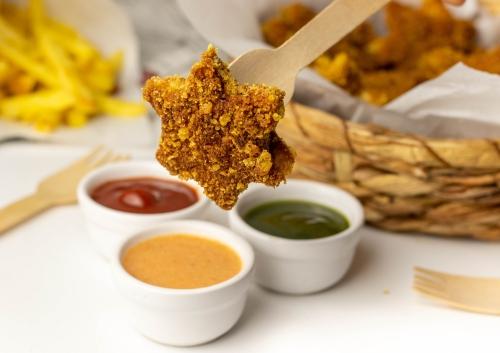 Hot Chili Peanut Crunch Nuggets! Riesenbovist in Erdnussflips-Panade!