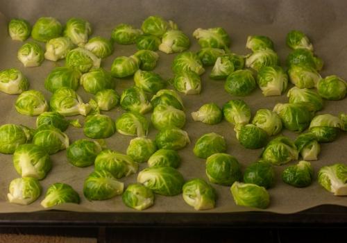 Rosenkohl bereit für den Ofen