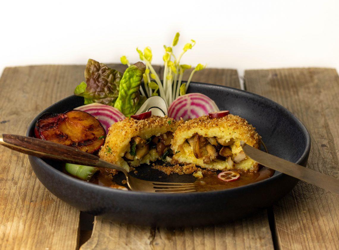 Gefüllte Kartoffelknödel - mit deftiger Pilzfüllung