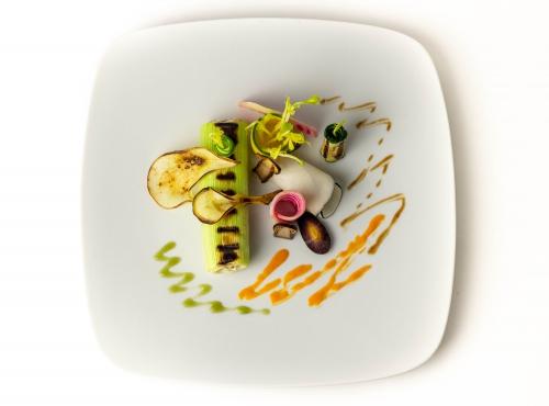 Auch dabei: gegrillte Zucchine und Brine, sowie frische Rüben