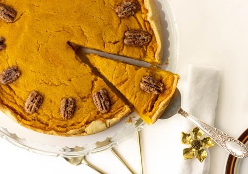 Meine rein pflanzliche Variante des Pumpkin Pie