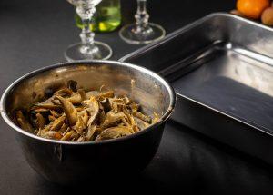 Austernseitlinge bereit für den Ofen