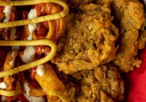Panierte Austernpilze im Style von Chicken Nuggets