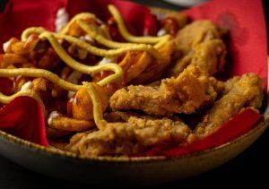 Veganes Fast Food mit hausgemachten Nuggets