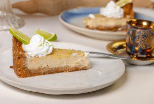 Veganer Key Lime Pie, genauso lecker und cremig wie das Original