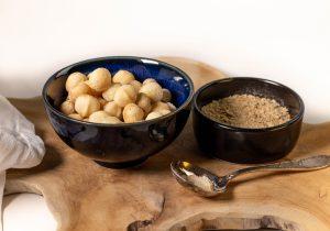 Die Zutaten für den Macadamia Parmesan