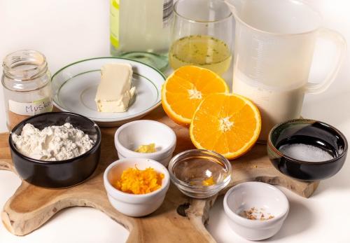 Zutaten für die Sauce Orangenhollandaise