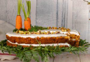 Mit frischen Karotten gebacken