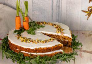 Auch Rüblikuchen, Möhrenkuchen oder Osterkarottenkuchen genannt