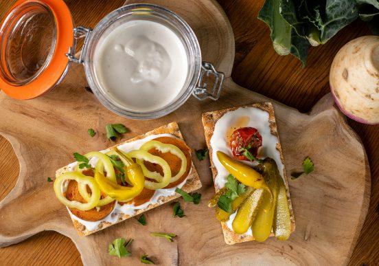 Mayonnaise mit Aquafaba – sojafrei und rein pflanzlich