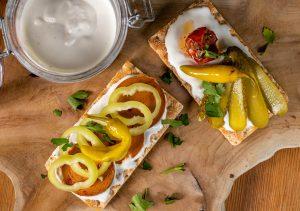 Perfekt auf veganen Sandwiches