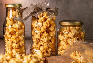 Gesalzenes Karamell Popcorn - Toffee Popcorn selbstgemacht