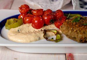 Grüne Spitzpaprikasauce - köstlich mit gegrilltem Gemüse