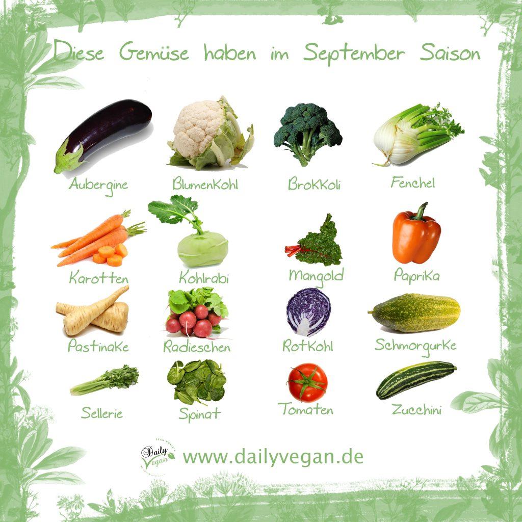 Saisonales Gemüse im September