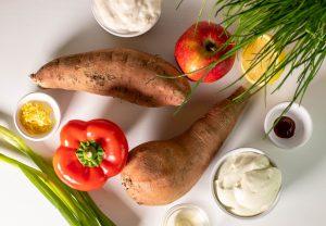 Zutaten für den Süßkartoffelsalat
