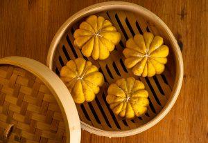 Gefüllte Kürbisbrötchen - werden gedämpft wie Bao Buns